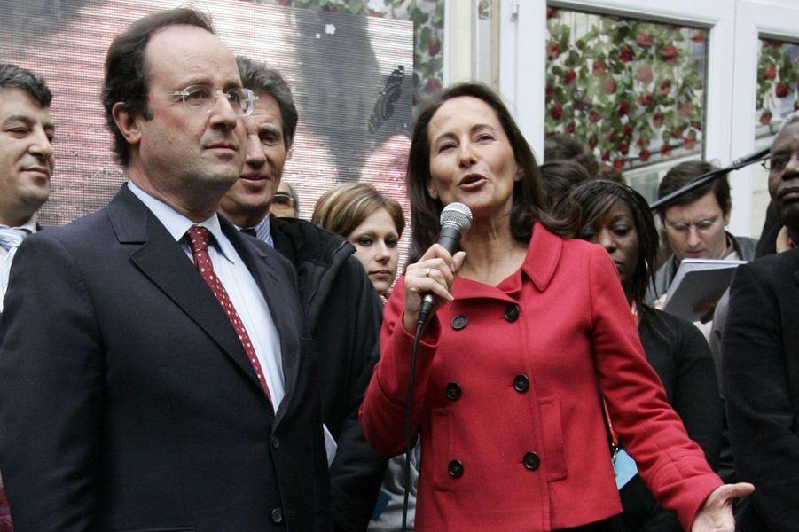 """""""Ségo présidente"""" : un compagnon en campagne, en janvier 2007"""