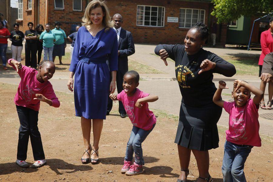 Avec les enfants à l'hôpitalNatalspruit.