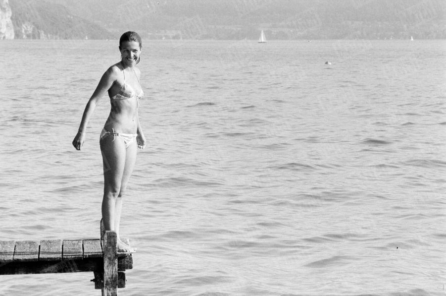 Véronique Jannot, au lac d'Annecy, en août 1979.