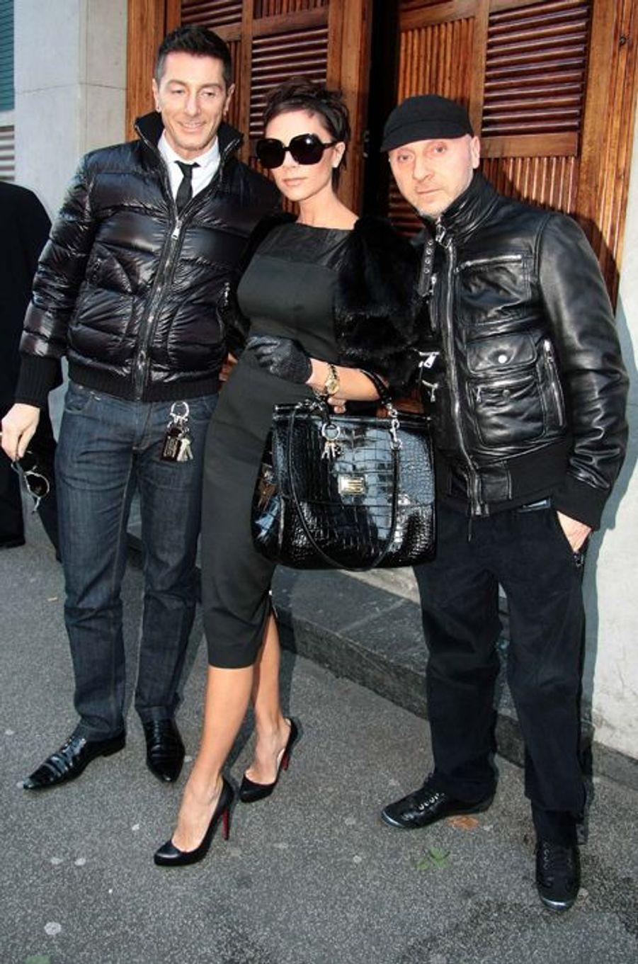 Avec Dolce et Gabbana, en décembre 2008