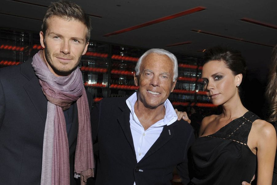 Avec Giorgio Armani