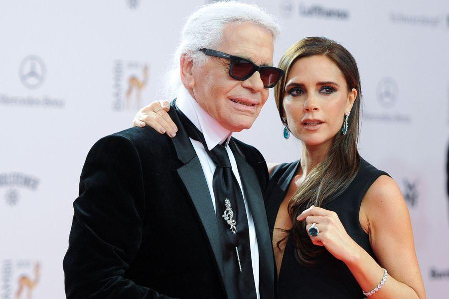 Avec Karl Lagerfeld, en novembre 2013