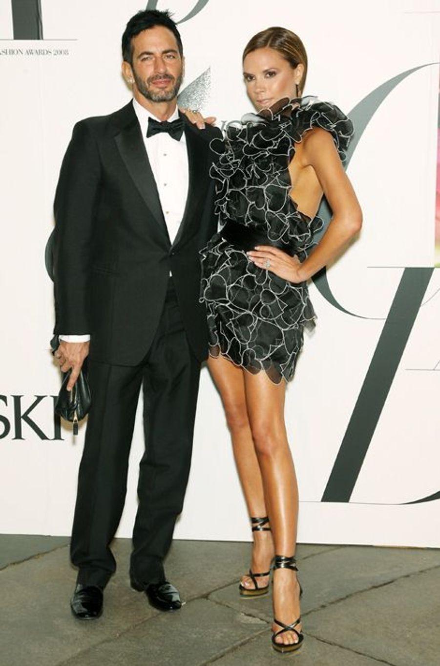 Avec Marc Jacobs, en juin 2008