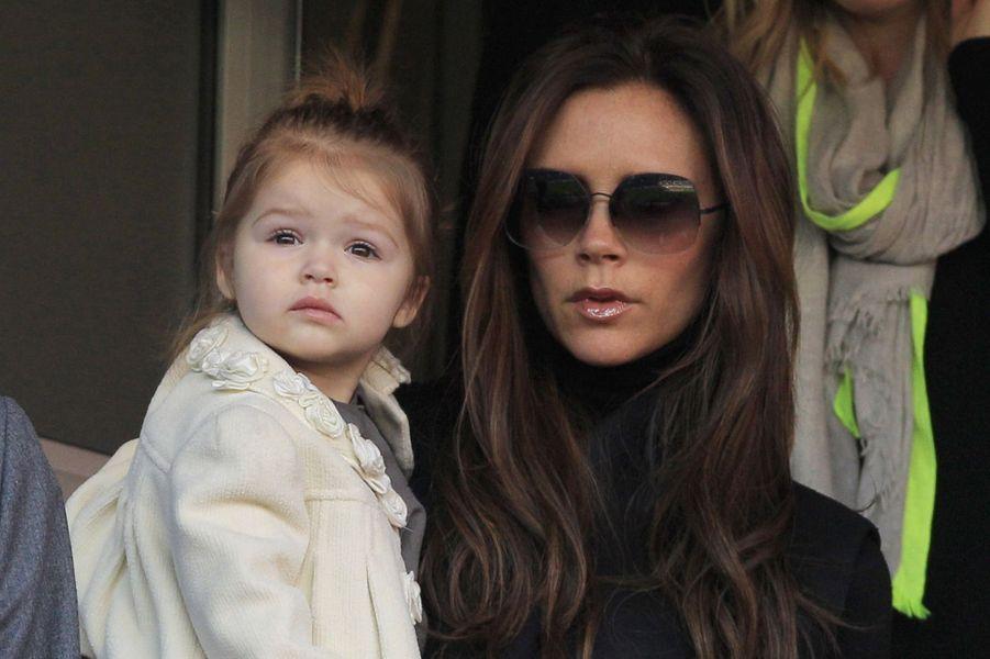 Avec sa fille Harper, en mars 2013