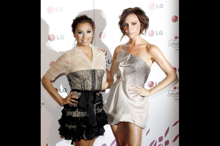 Avec son amie Eva Longoria, en mai 2010