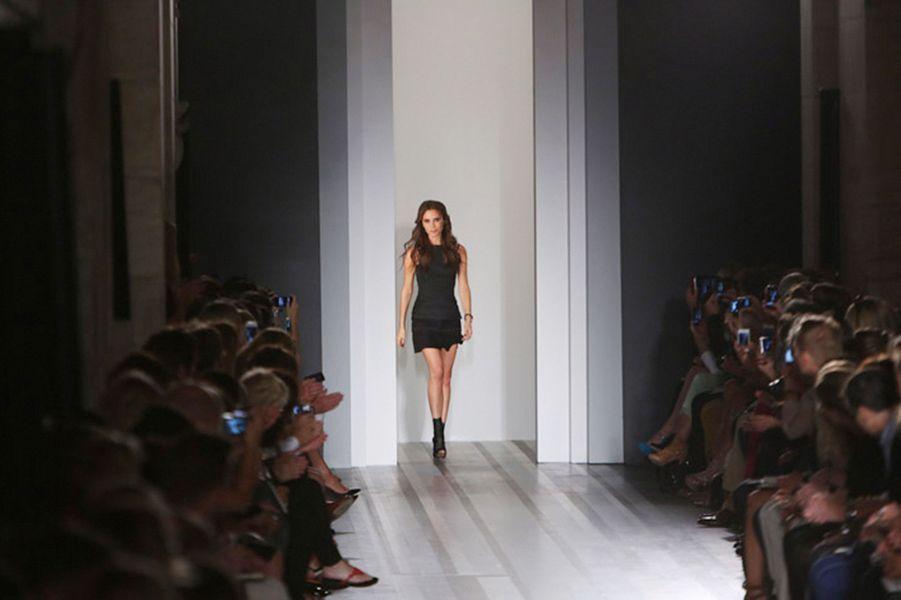 Présentation de sa collection à la Fashion week de New York, en septembre 2012
