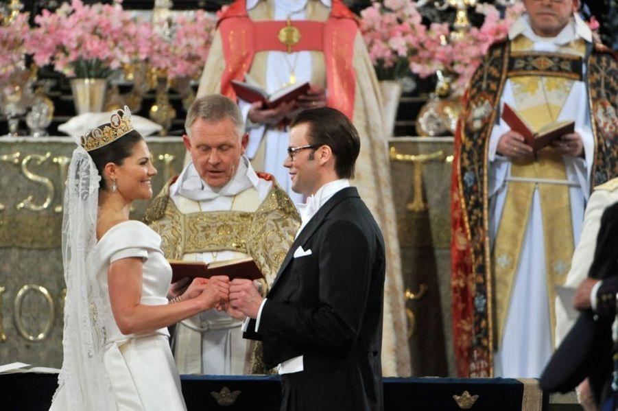 Le mariage de la princesse Victoria de Suède et de Daniel Westling, samedi 19 juin 2010 au palais royal de Stockholm.
