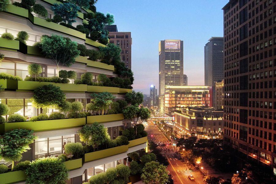 Un bioclimatisme autour des façades-Construit sur un système de roulement à billes pouvant résister à des secousses de fortes intensités