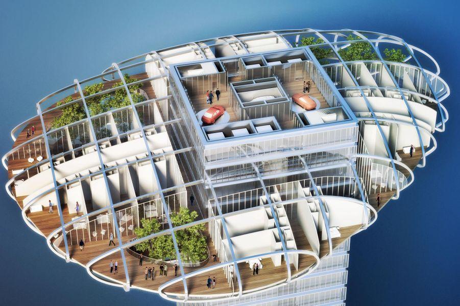 Le projet Asian Cairns se veut un modèle de smart city. Chaque galet présentera un bilan énergétique positif, autant sur le plan électrique et calorifique qu'alimentaire