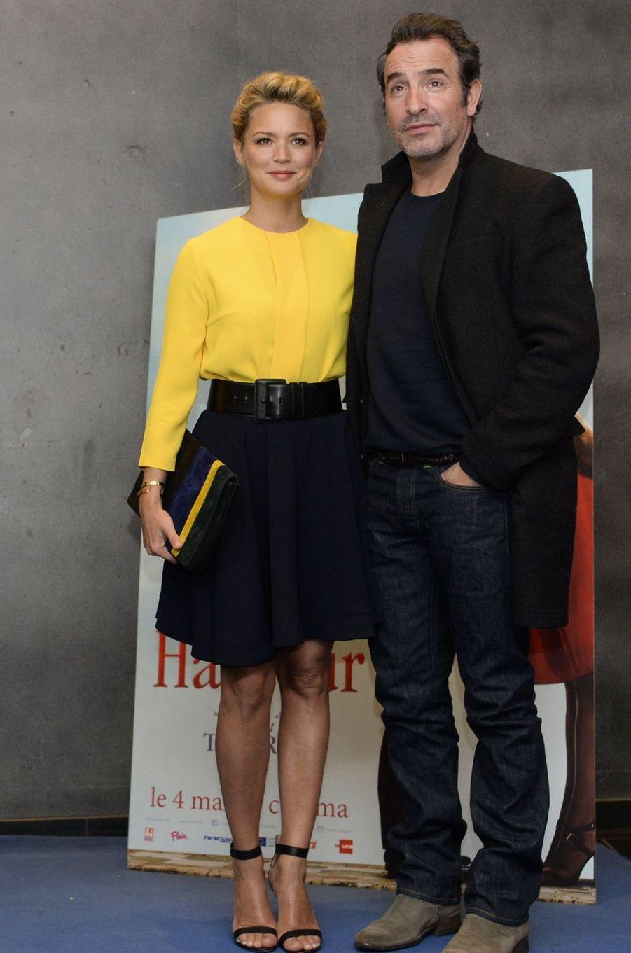 Virginie Efira et Jean Dujardin, le 25 avril 2016.