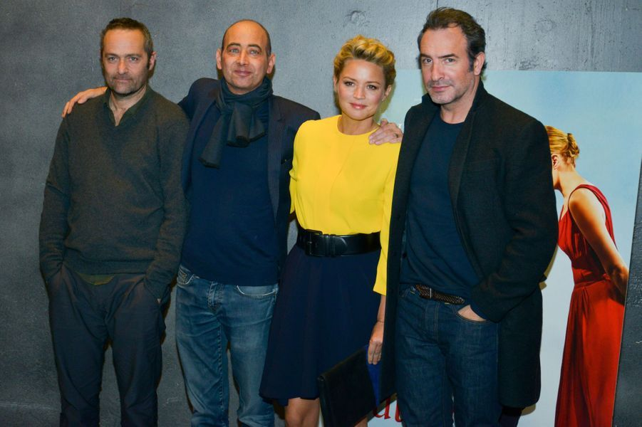 Virginie Efira, Jean Dujardin,Cedric Kahn et Laurent Tirard, le 25 avril 2016.