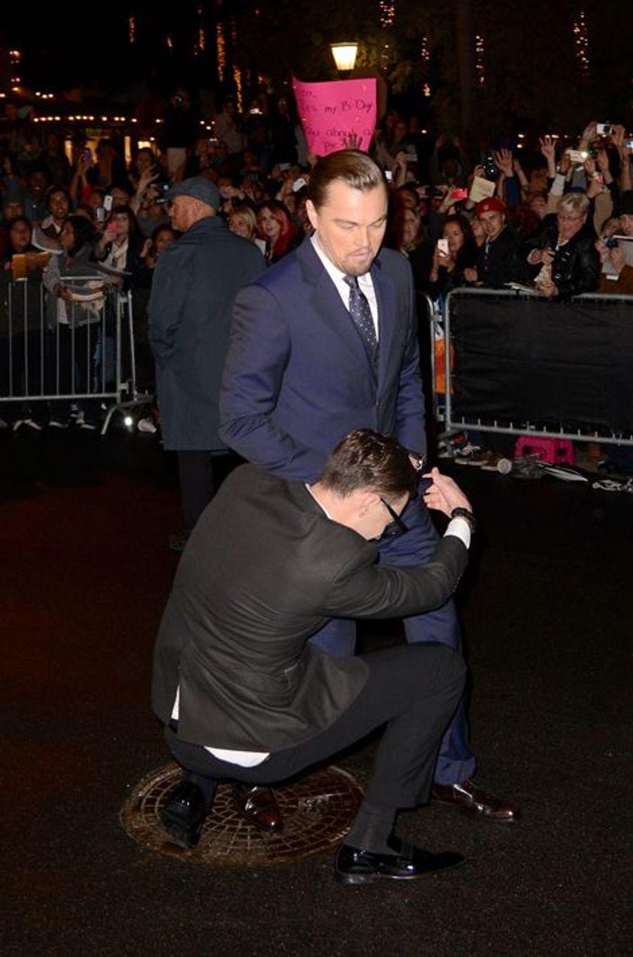 Collé-serré à Leonardo Dicaprio au Festival du film de Santa Barbara, le 5 février dernier