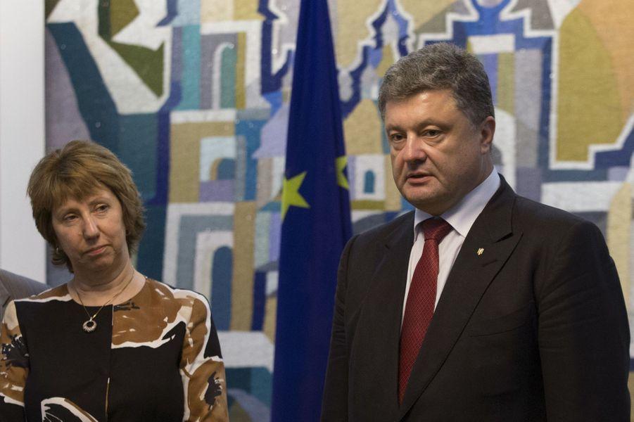 Catherine Ashton et Petro Porochenko