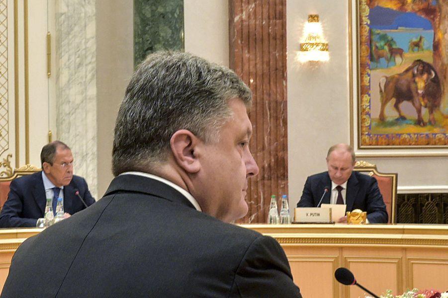 Petro Porochenko à la table des négociations