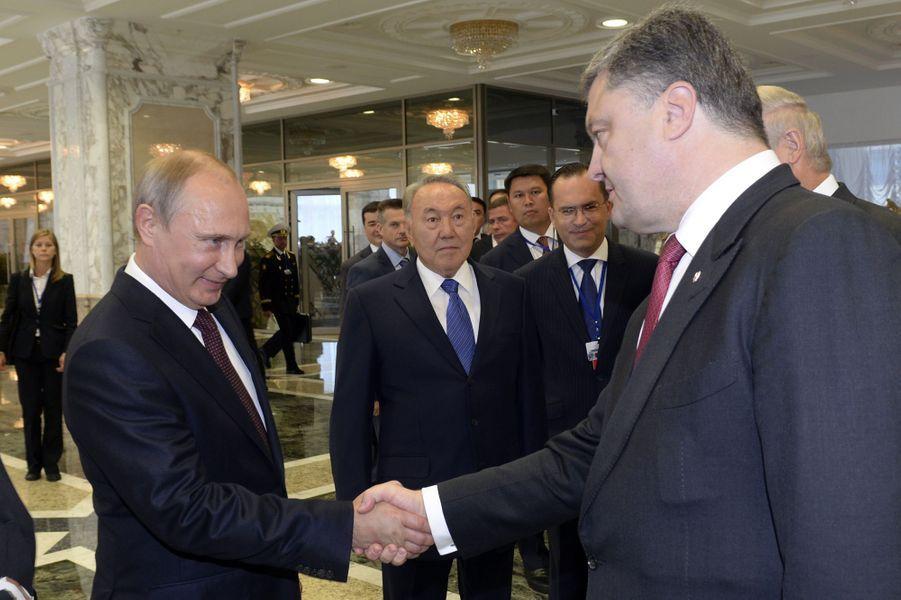 Vladimir Poutine et Petro Porochenko