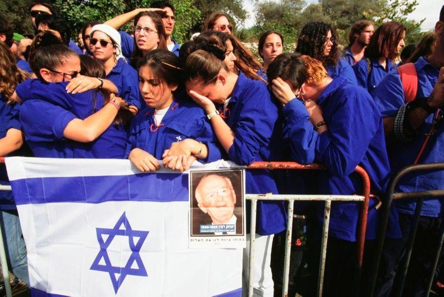 Les obsèques d'Yitzhak Rabin, le 6 novembre 1995.