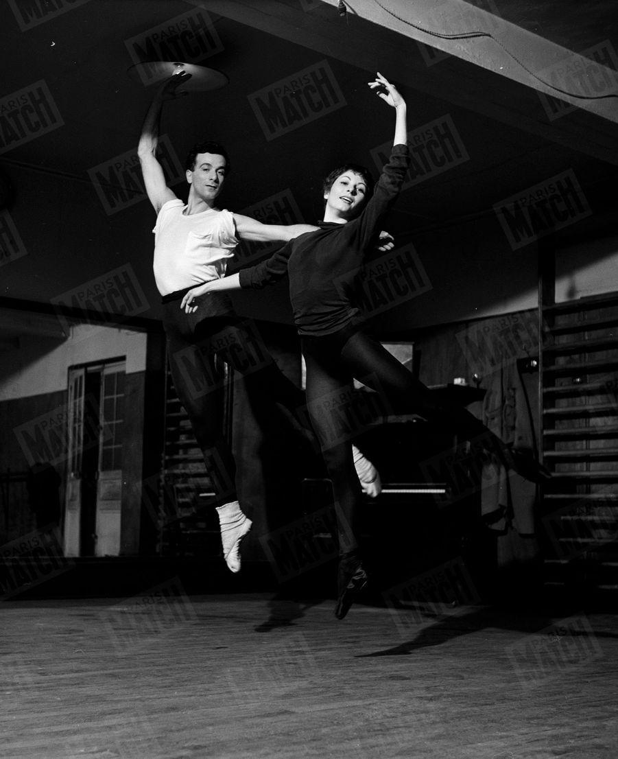 Zizi Jeanmaire et Roland Petit en 1954.
