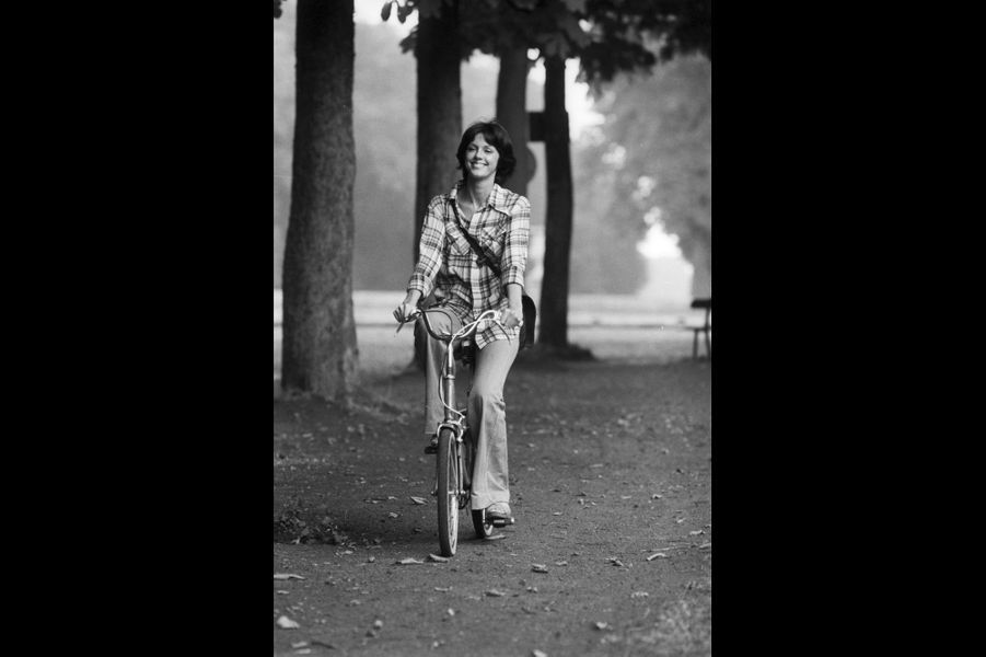 Rendez-vous avec Anny Duperey. Paris, France. Juillet 1976.
