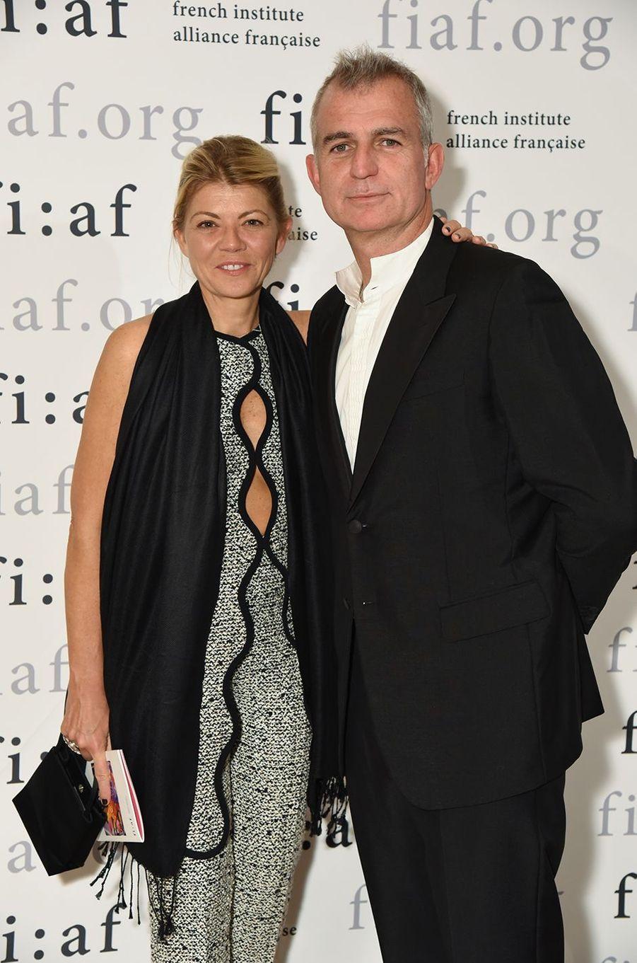 Virginie Morgon, vice-présidente d'Eurazeo, et Marc Abelin.