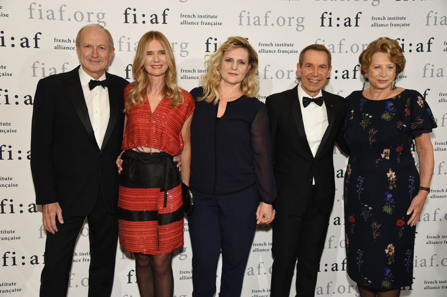 Jean-Paul Agon, Sophie Agon, Justine Koons, Jeff Koons, Marie-Monique Steckel.
