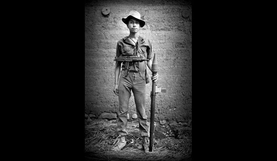 Portrait de guerillero au Salvador (sans date).