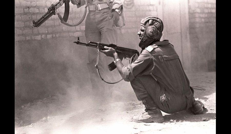 Christian Poveda avait couvr les premiers mois du conflit déclenché par l'Irak de Saddam Hussein.