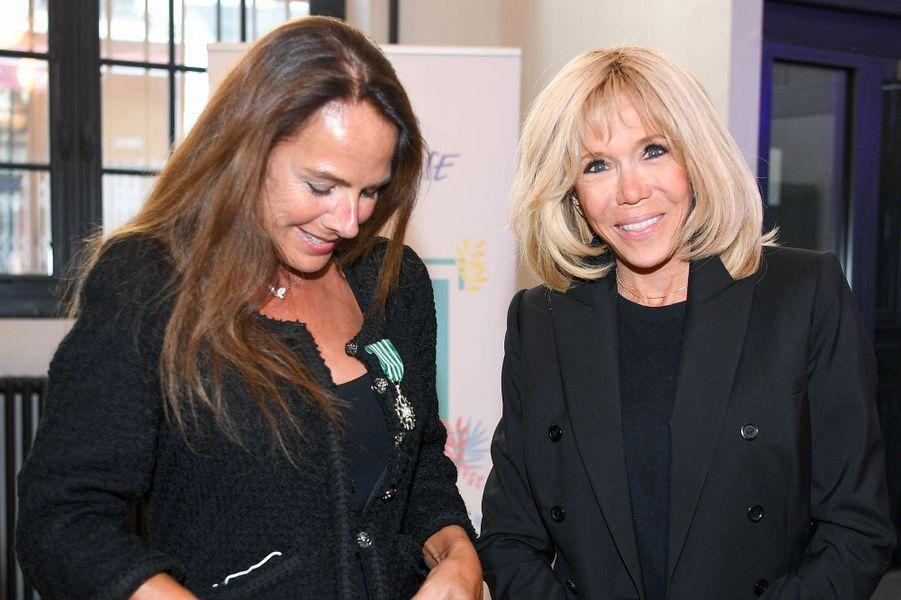 Laurence Jenkell et Brigitte Macron, à la Fondation des Femmes.