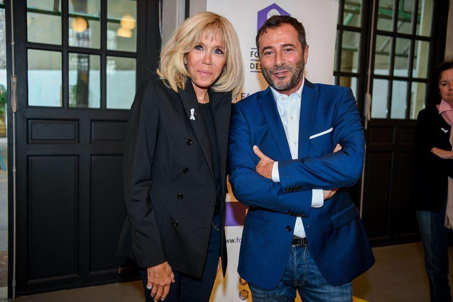 Brigitte Macron et Bernard Montiel, à la Cité Audacieuse.