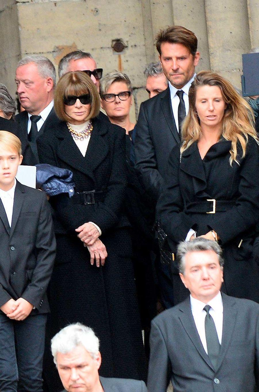 Anna Wintour et Bradley Cooper aux obsèques de Peter Lindbergh, à Paris, le 24 septembre 2019.