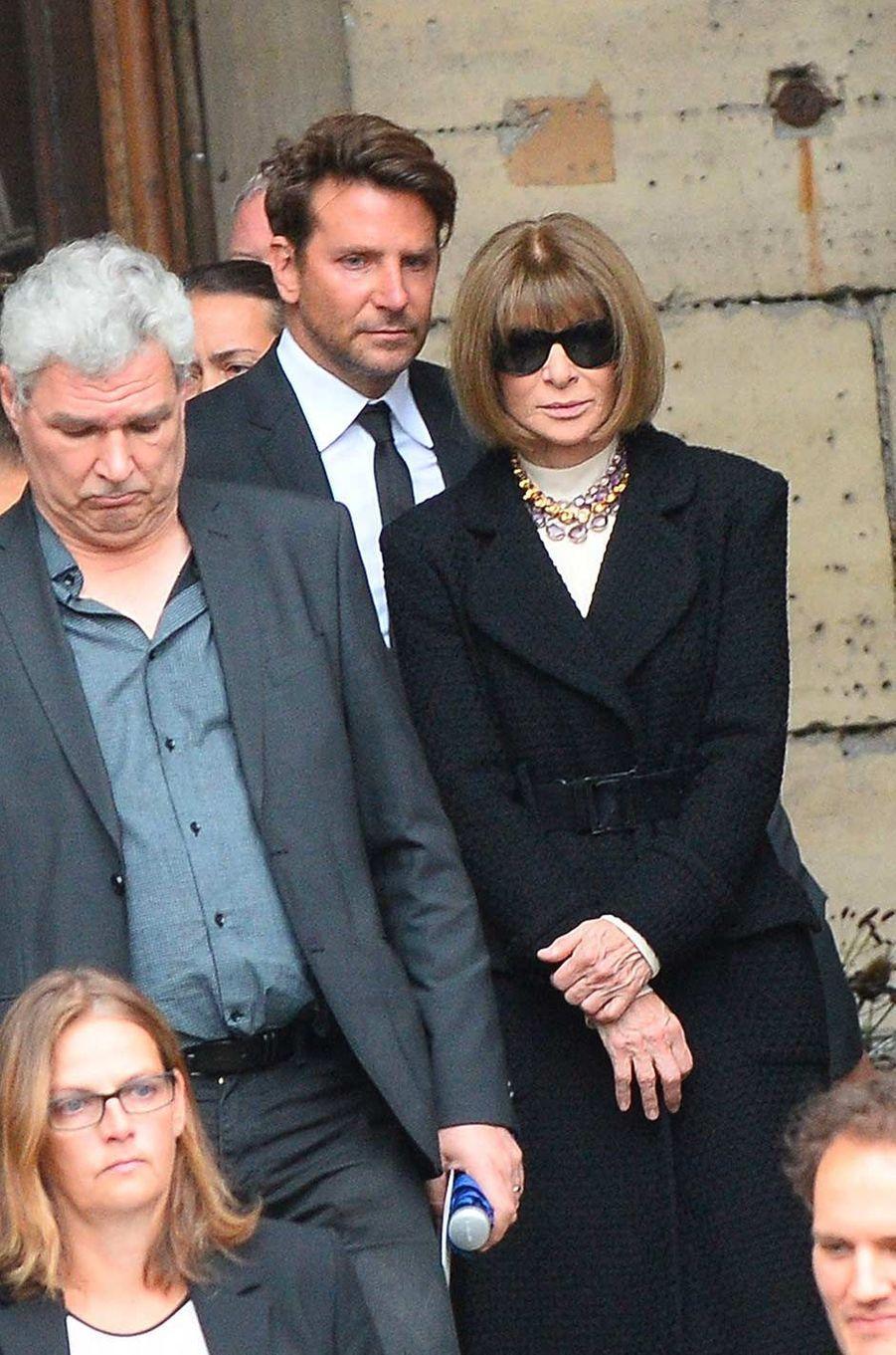 Bradley Cooper et Anna Wintouraux obsèques de Peter Lindbergh, à Paris, le 24 septembre 2019.