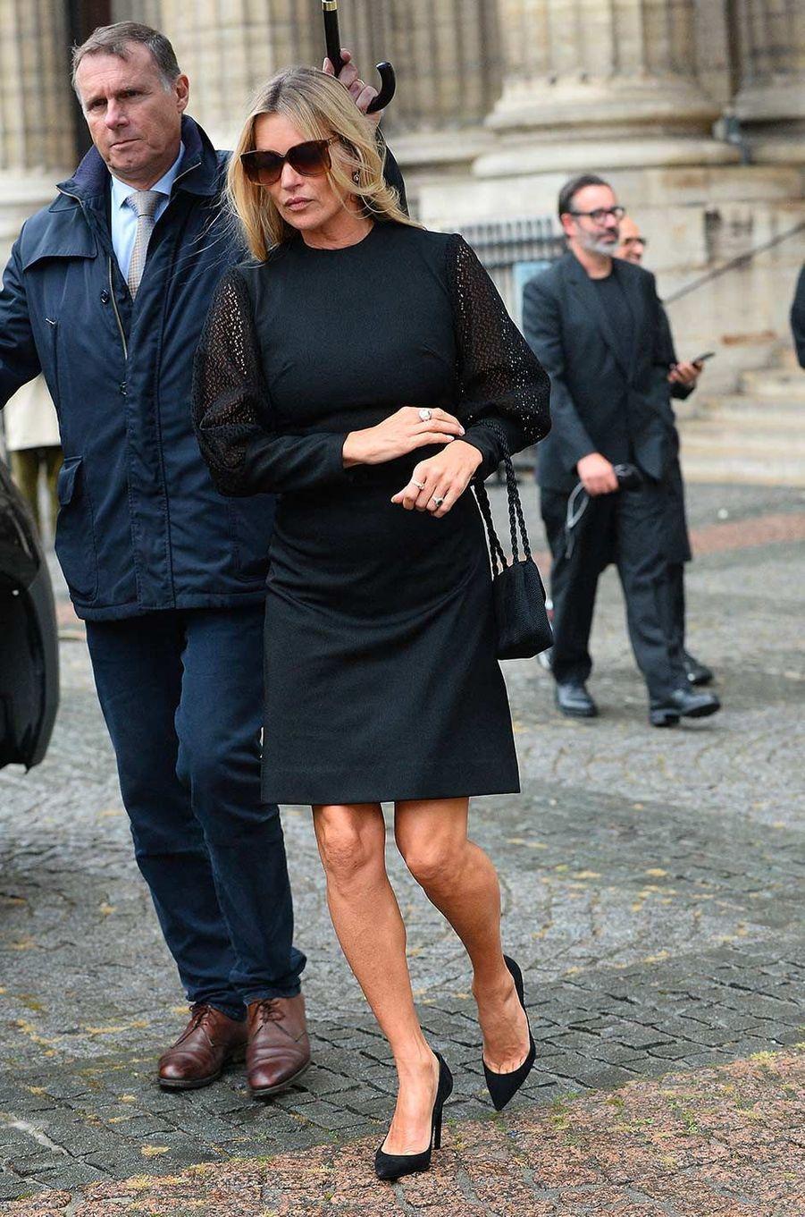 Kate Mossaux obsèques de Peter Lindbergh, à Paris, le 24 septembre 2019.