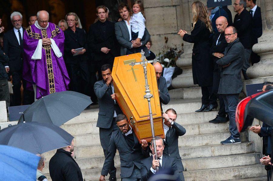Aux obsèques de Peter Lindbergh, à Paris, le 24 septembre 2019.