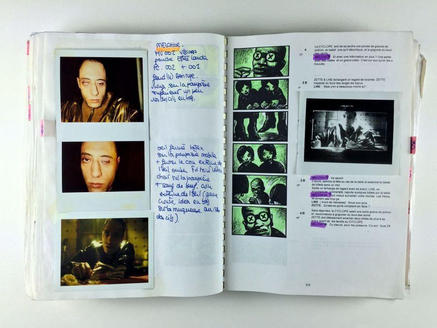 Storyboard, Polaroïd de maquillage, « La cité des enfants perdus », 1995.