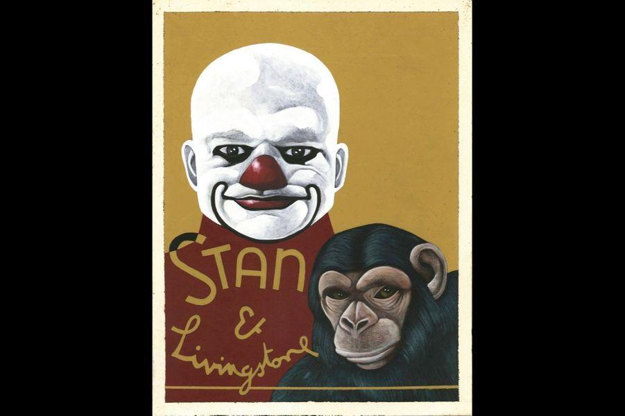 Peinture clown, réalisée par Marc Caro, « Delicatessen », 1991.
