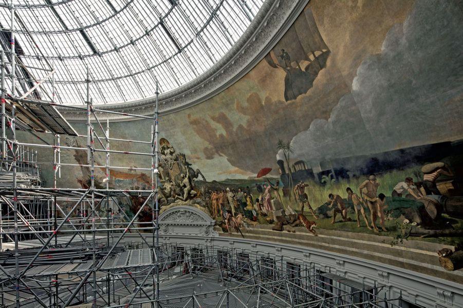 Un pan des 1 400 m2 de toiles marouflées restaurées.