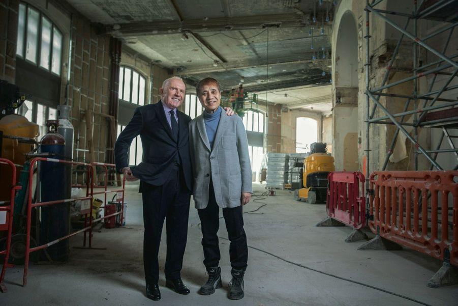 François Pinault et Tadao Ando.