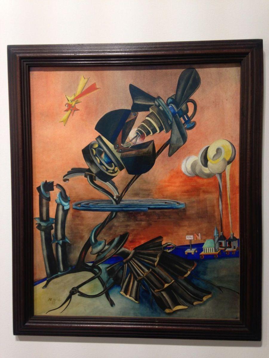 L'oeuvre décrétée la plus belle de la foire cette année : « Vereinigung » d'Hannah Hoch, 1922, sur le stand de la galerie 1900-2000