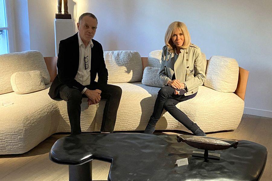 Daniel Bismut et Brigitte Macron