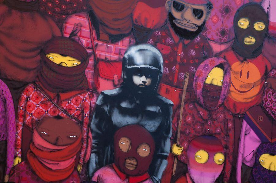 Pour découvrir toutes les oeuvres de Banksy à New York, une seule adresse:http://www.banksyny.com/. La mairie de New York n'a guère apprécié la guérilla graphique de l'artiste et a déjà effacé des pochoirs pourtant magnifiques.