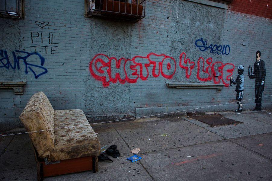 Oeuvre réalisée dans le South Bronx, le 21 octobre.
