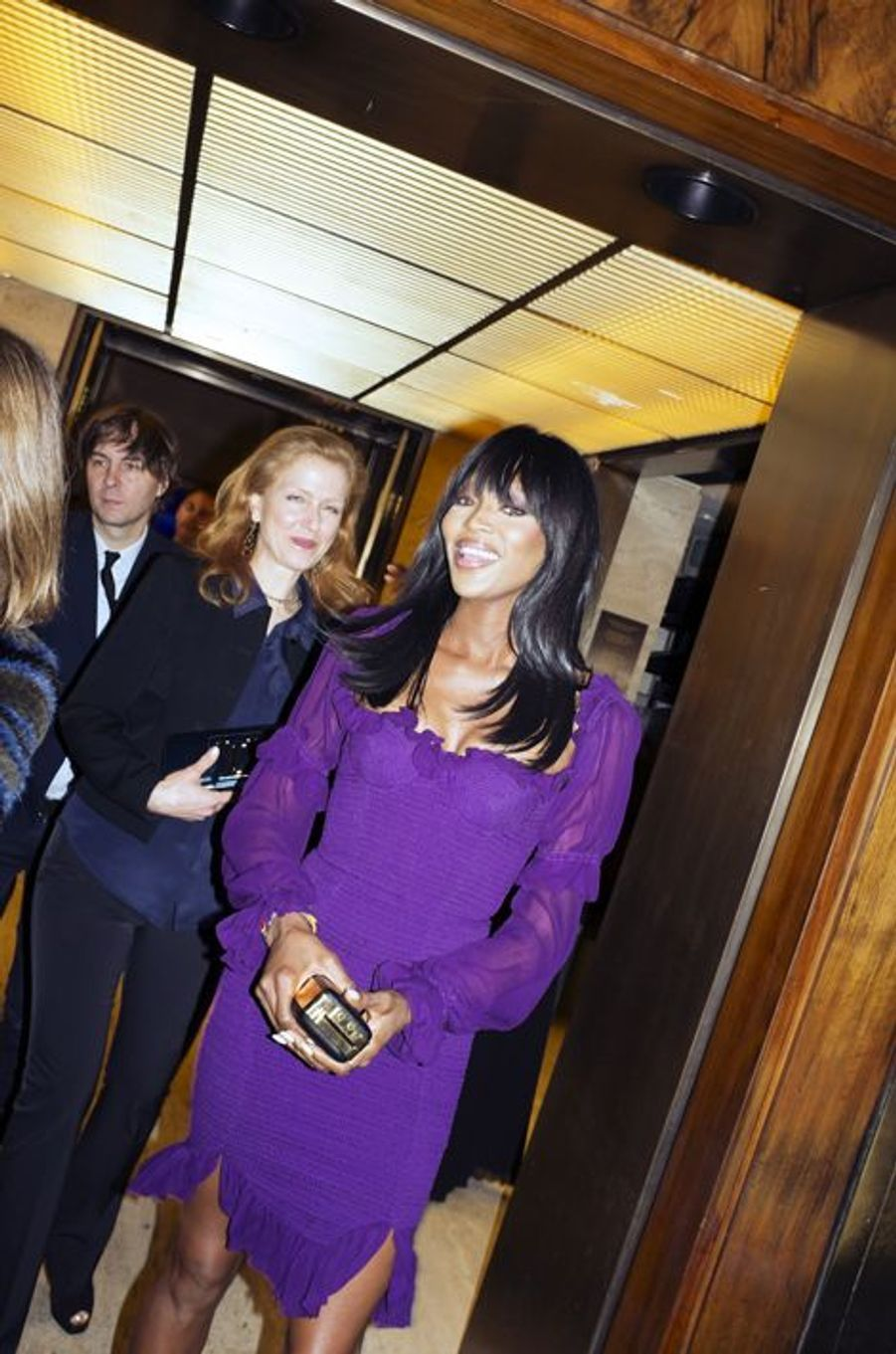 Naomi Campbell à la soirée Jeff Koons, à New York