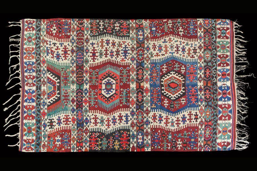 Tapis kilim, Anatolie, XXe siècle.
