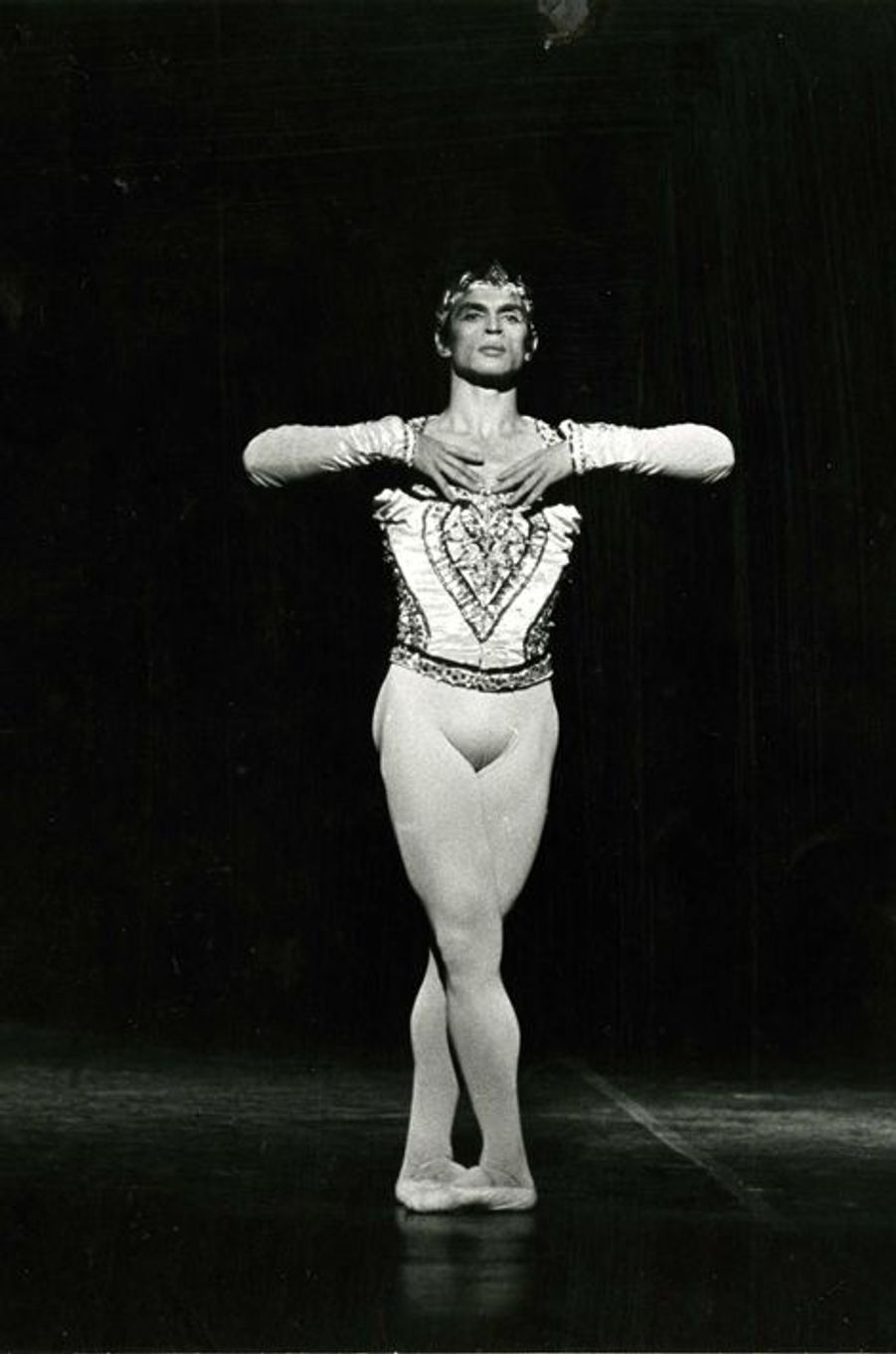 Rudolf Noureev, La Bayadère, Acte des Ombres, Palais Garnier, 1974.