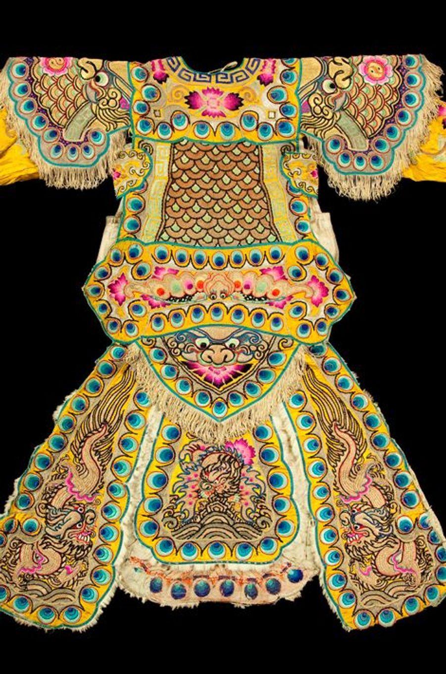 Costume de théâtre, Chine, début du XXe siècle.