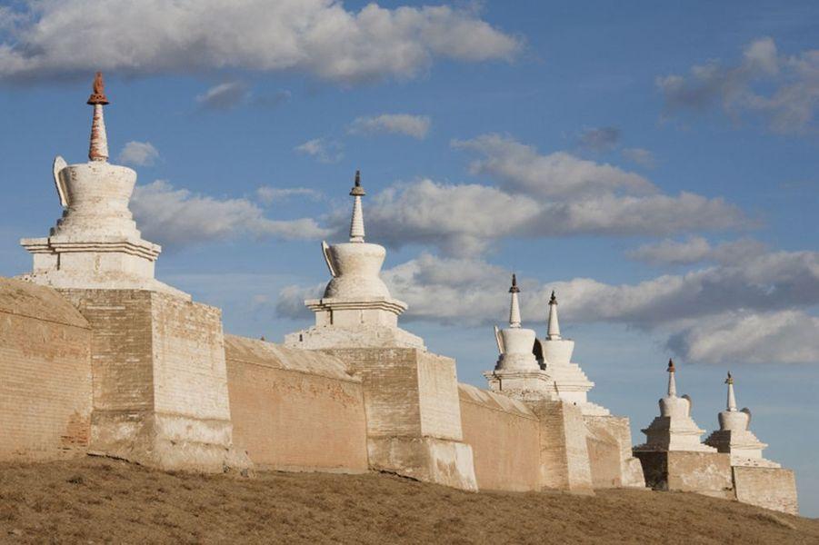 Paysage de Mongolie : KaraKorum, ancienne capitale de l'empire Mongol.