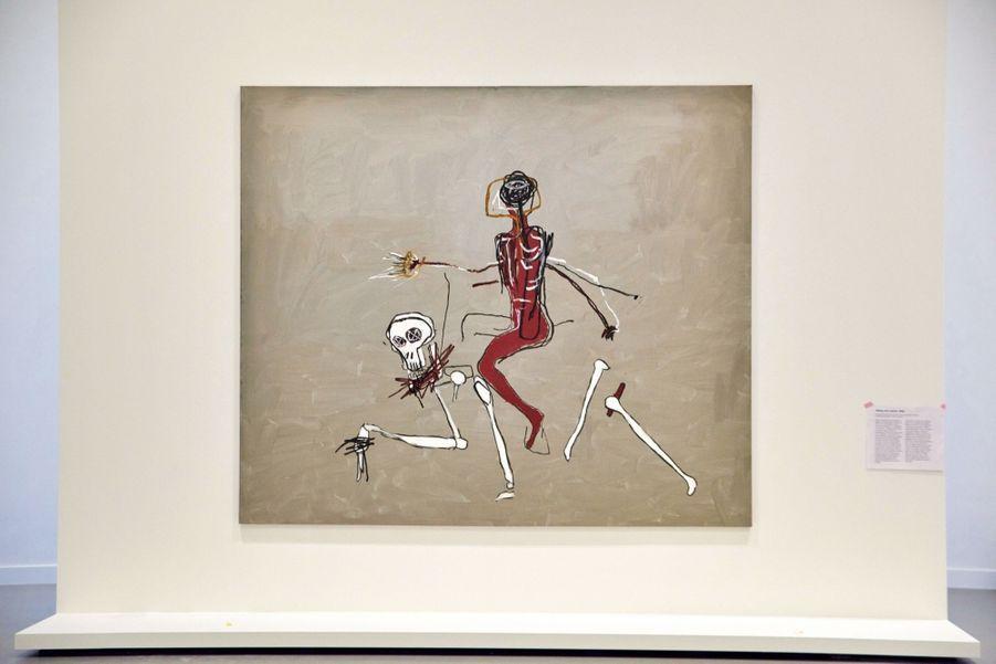 Un titre prémonitoire, « Riding With Death » (« Chevauchée avec la mort »), un de ses derniers tableaux peint en 1988, l'année de sa mort.