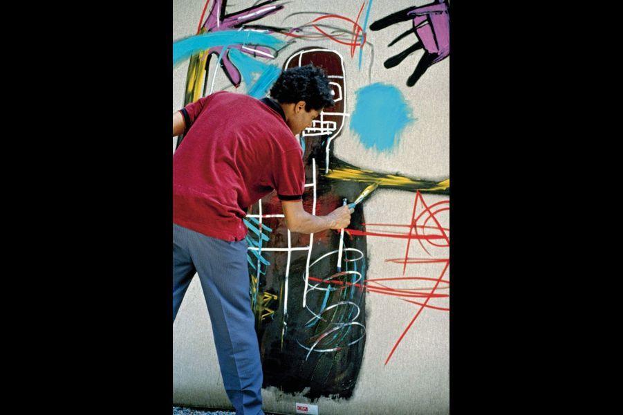 En 1983, il peint dans le garage du galeriste suisse Bruno Bischofberger à Saint-Moritz, s'inspirant des dessins de Cora (4 ans), la fille de son hôte.