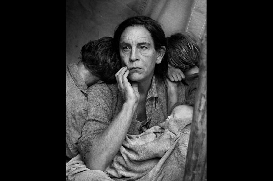 """D'après """"Migrant Mother"""" de Dorothea Lange, 1936"""