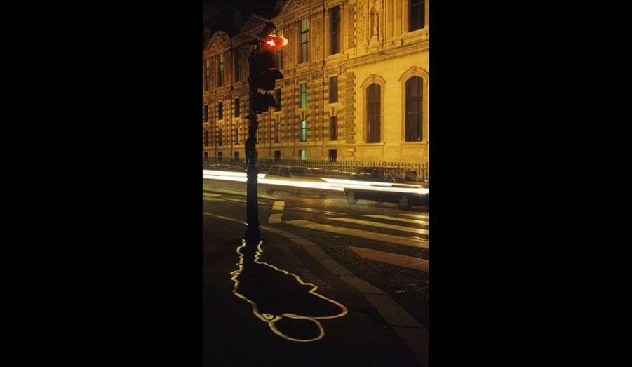 Urban Shadows - Feux de signalisation, quai du Louvre, Paris 2000