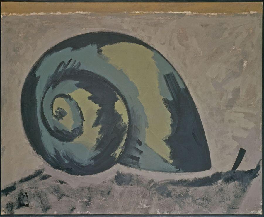 """Markus Lüpertz, """"Escargot"""", 1973. Détrempe sur toile."""